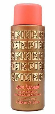 1 Victoria's Secret PINK SunKissed Bronze Shimmer Oil Coconut Vanilla 6.3 oz Sun