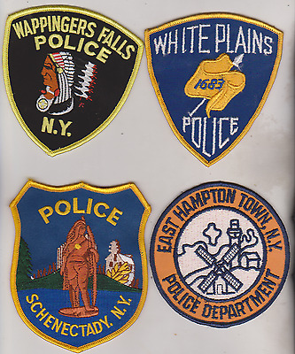 Wappinger Falls, White Plains & East Hampton Town NY Police patches