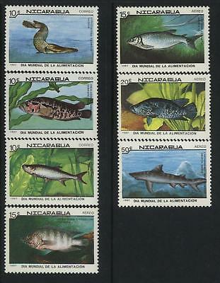 Fishes by Nicaragua MNH Sc 1661-67