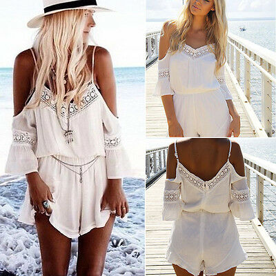 Women Summer Clubwear V Neck Playsuit Bodycon Party Jumpsuit&Romper