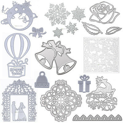 43 Pattern Diary Christmas Cutting Die Stencil DIY Album Scrapbooking Paper Card