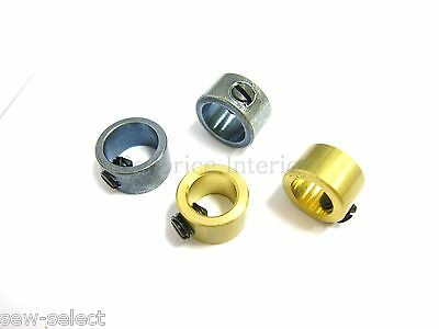 2 Metal rod fixing collars adjustable grub screw locking stop ferrule washer