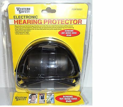 NEW! Electronic Hearing Ear Muffs Firearm Safety Noise Cancelling Headphones
