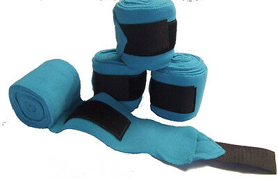 Ecotak polar fleece horse bandages - Aqua