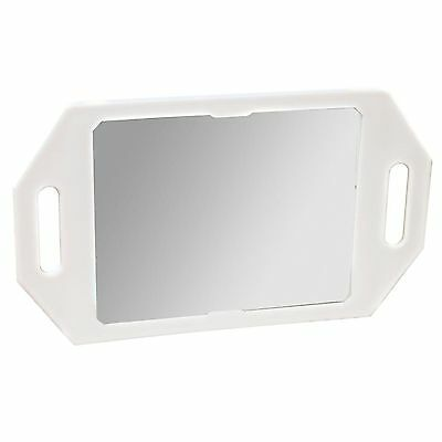 Two Handed Back Mirror WHITE Hairdressing Beauty Salon Spa Professional Strong