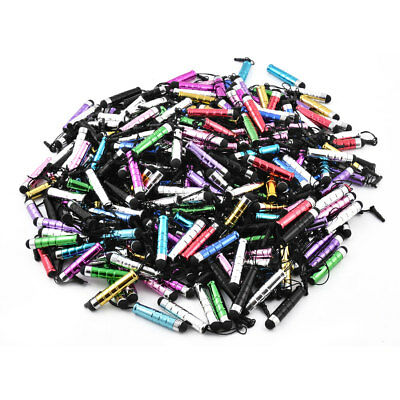 Phone Plastic Touch-Screen Earhole Dustproof  Mobile Chain Mix Colors 300pcs