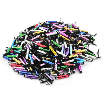 Phone Plastic Touch-Screen Earhole Dustproof  Mobile Chain Mix Colors 400pcs