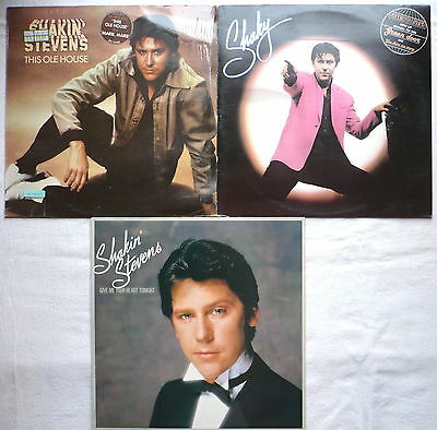 SHAKIN' STEVENS - Sammlung - 3 LPs   Shaky; This ole house; Give me your heart..