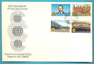 Botswana First Day Cover.commonwealth Day 14 March 1983