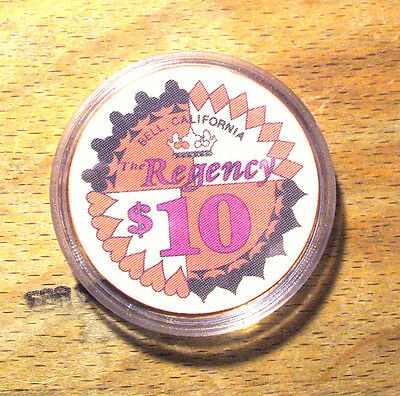 $10. Regency Casino Chip - Bell,California - 1981 - CHIPCO