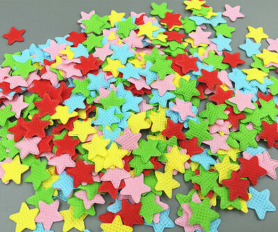 1000pcs Mixed Colors Appliques Cardmaking decoration star shape Felt 16mm
