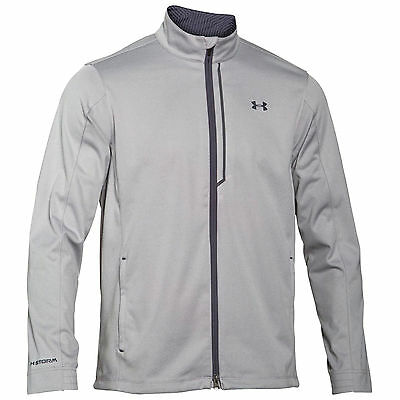 Under Armour Mens Coldgear Elemental Storm Full Zip Jacket Grey Small - New Ua