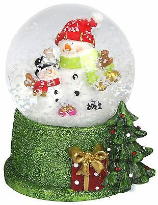 Merry Christmas Snow Globe Dome Waterball - Jolly Snowman Design