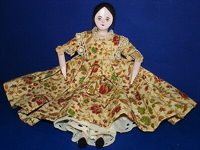 """Artist PK Shillaber House of the Seven Gables 7"""" Lady Peg Wooden Doll Dressed!"""