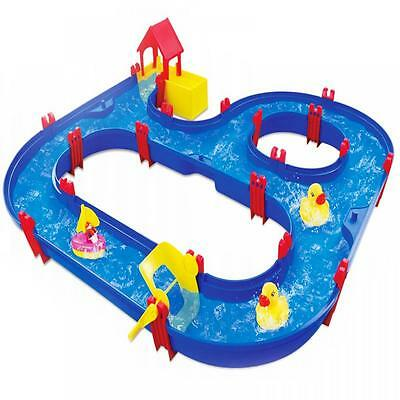 Childrens Kids Large Toy Aqua Play Set Floating Water Canal Indoor Garden Game