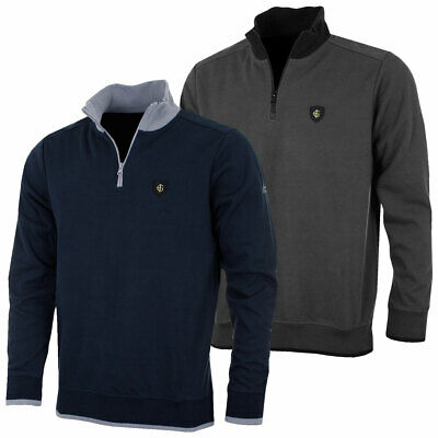 Island Green 2017 Mens Bonded Knit Golf Sweater IGKNT1606 55% OFF RRP