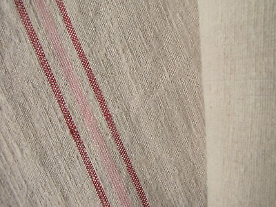 Antique linen 19th C fabric homespun  4.4 yds 24in WIDE