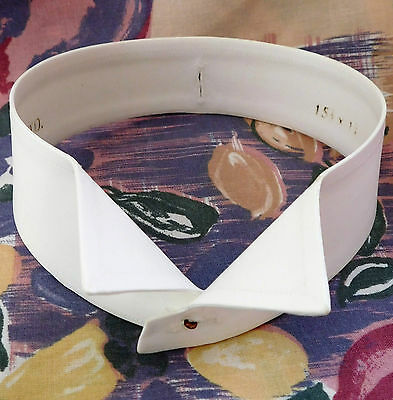 Vintage wing collar 15.5 H Ltd Starched stiff detachable for tunic shirt UNUSED