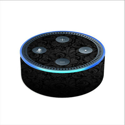 Skin Decal for Amazon Echo Dot (2nd gen) / Black Floral