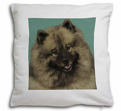 Keeshond Dog Soft Velvet Feel Cushion Cover With Inner Pillow, AD-KEE1-CPW
