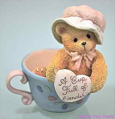 Cherished Teddies Bear A Cup Full Of Friendship Vintage Madeline 135593 Enesco