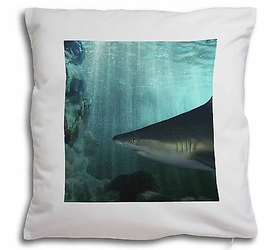 Shark Photo Soft Velvet Feel Cushion Cover With Inner Pillow, AF-SHA1-CPW