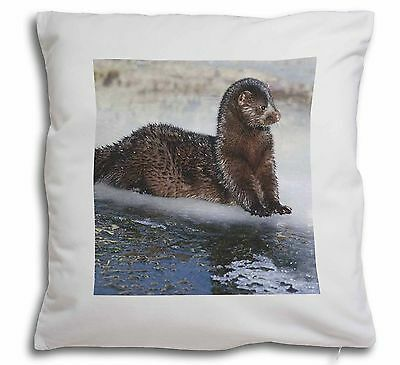 Cute Otters /'Soulmates/' Soft Velvet Feel Cushion Cover With Inner P SOUL-72-CPW