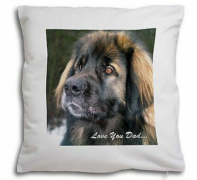 Leonberger Dog 'Love You Dad' Soft Velvet Feel Scatter Cushion Chris, DAD-68-CPW