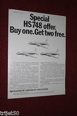 Advert Airliner HS748 1972