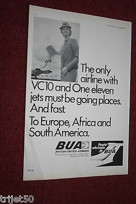 Advert British United Airlines BUA VC10 September 1967