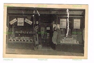 Old Postcard Phippen Bakers Shop Front Pontlottyn Glam. South Wales Real Photo