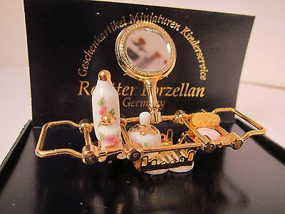 Dollhouse Miniature Reutter Bathroom Tray with Mirror