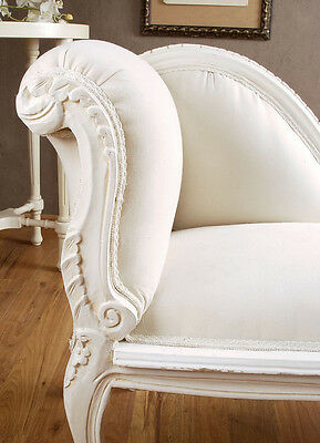 Rococo Sofa Chaise Longue White Bench Country House Style Couch Vintage