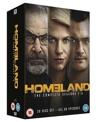 Homeland: The Complete Seasons 1-5 DVD Box Set NEW
