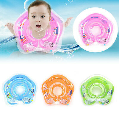 Infant Newborn Baby Swimming Neck Float Ring Bath Inflatable Circle Toy Gift