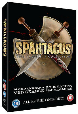 Spartacus: The Complete Collection DVD Slimline Box Set NEW