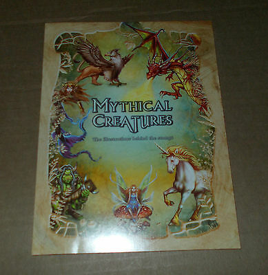 * Australia Post Mint Stamp Book Mythical Creatures The Illustrations Inc Stamps