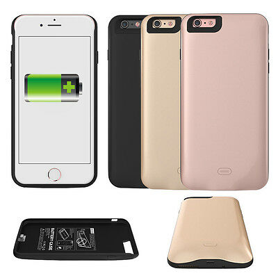 iPhone 7/7Plus Backup Battery Charger Power Bank Pack Protective Cover Case 2in1