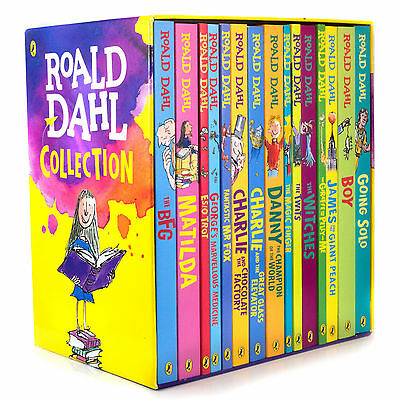ROALD DAHL Collection - 15 Paperback Book Box Set, No.1 Storyteller Children NEW