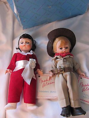 Madame Alexander lot of 2 dolls with tags Red Boy & Australia Miniature Showcase