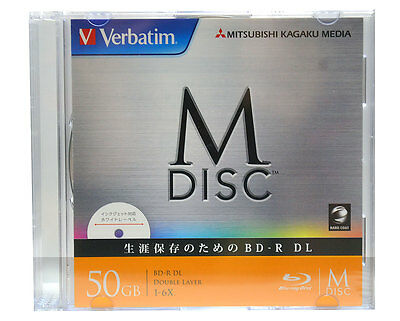 1 Pack Verbatim M-Disc BD-R 50GB Bluray 6X Inkjet Printable 1000 Years Archival