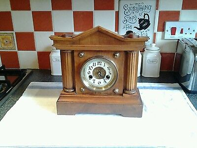 H.A.C. 14 Day Strlke Mantle Clock By Wurtemberg Post 1900
