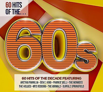 60 HITS OF THE 60s (Best Of / Greatest Hits) 3 CD SET (2016)