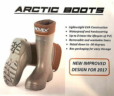 Rovex Arctic Thermal Artic Fishing Boots - All Sizes - New Design For 2017