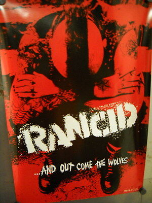 RANCID Rare 2-sided PROMO POSTER ...OUT COME THE WOLVES mint condition