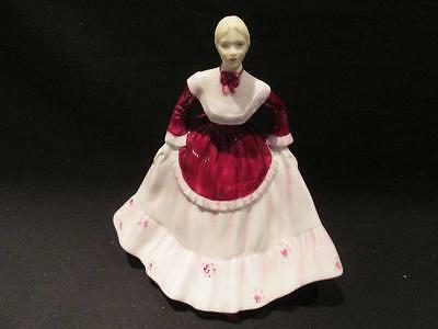 Carol Coalport Ladies of Fashion Vintage Figurine Red & White Ballgown #3/84