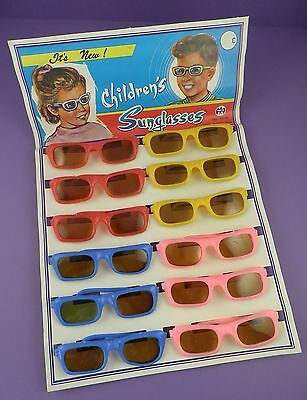 c1960s Shop Display Card of Children's Vintage Toy Sunglasses