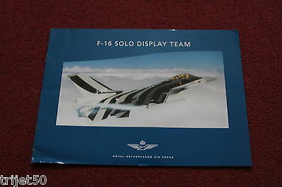Royal Netherlands Air Force F-16 Solo Display Team Brochure 2001-2