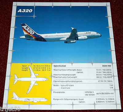Airbus A320 Airliner Promotional Leaflet July 1990