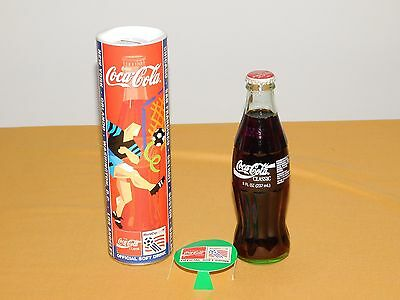 Vintage 1994 Boston World Cup Soccer Coca Cola Unopened Bottle & Bank